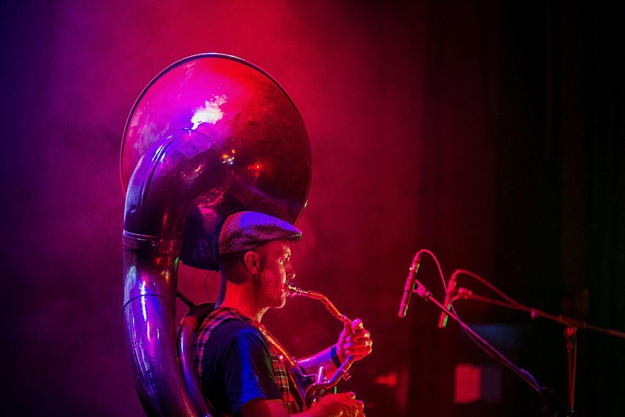 Balkabarna Festival 2015 Color People Open Edit Musicians Tuba Backstage
