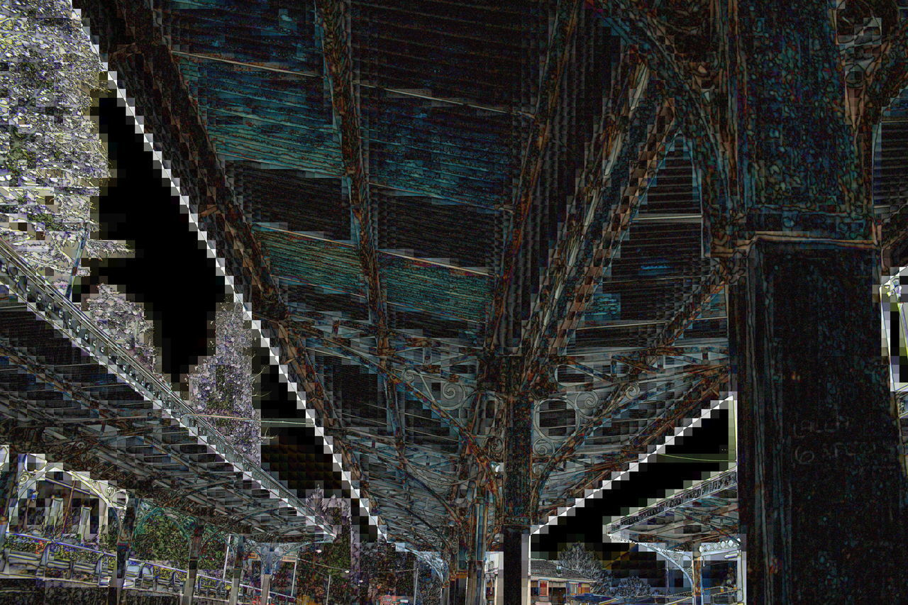 Q Architecture Built Structure Old Structures Playing With Effects Geometry Mosaic Mosaik Geometry Pattern Station Bus Showcase March Valganna Italy Detail Fine Art Photography The Magic Mission
