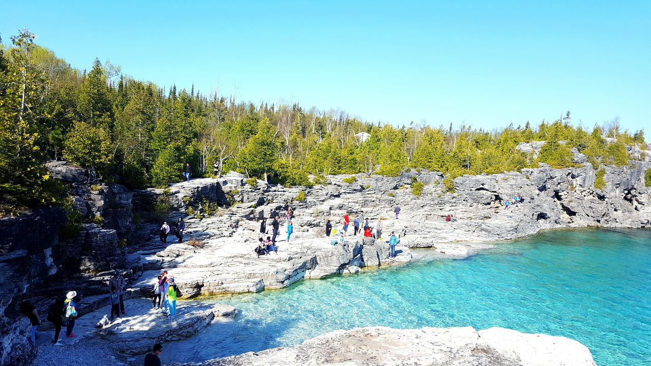 Tourist attraction in bruce peninsula national park Found On The Roll Rocky Mountains Tourists Tourist Attraction  Landscape Landscapes With WhiteWall National Park Blue Summer Views Relaxing Still Life Leisure Activity Blue Sky Beach Blue Wave Hidden Gems  Pastel Colors Bruce Peninsula Green Water Blue Water People Together The Great Outdoors - 2016 EyeEm Awards Summer Travel The Essence Of Summer Flying High Lost In The Landscape Done That. Connected By Travel