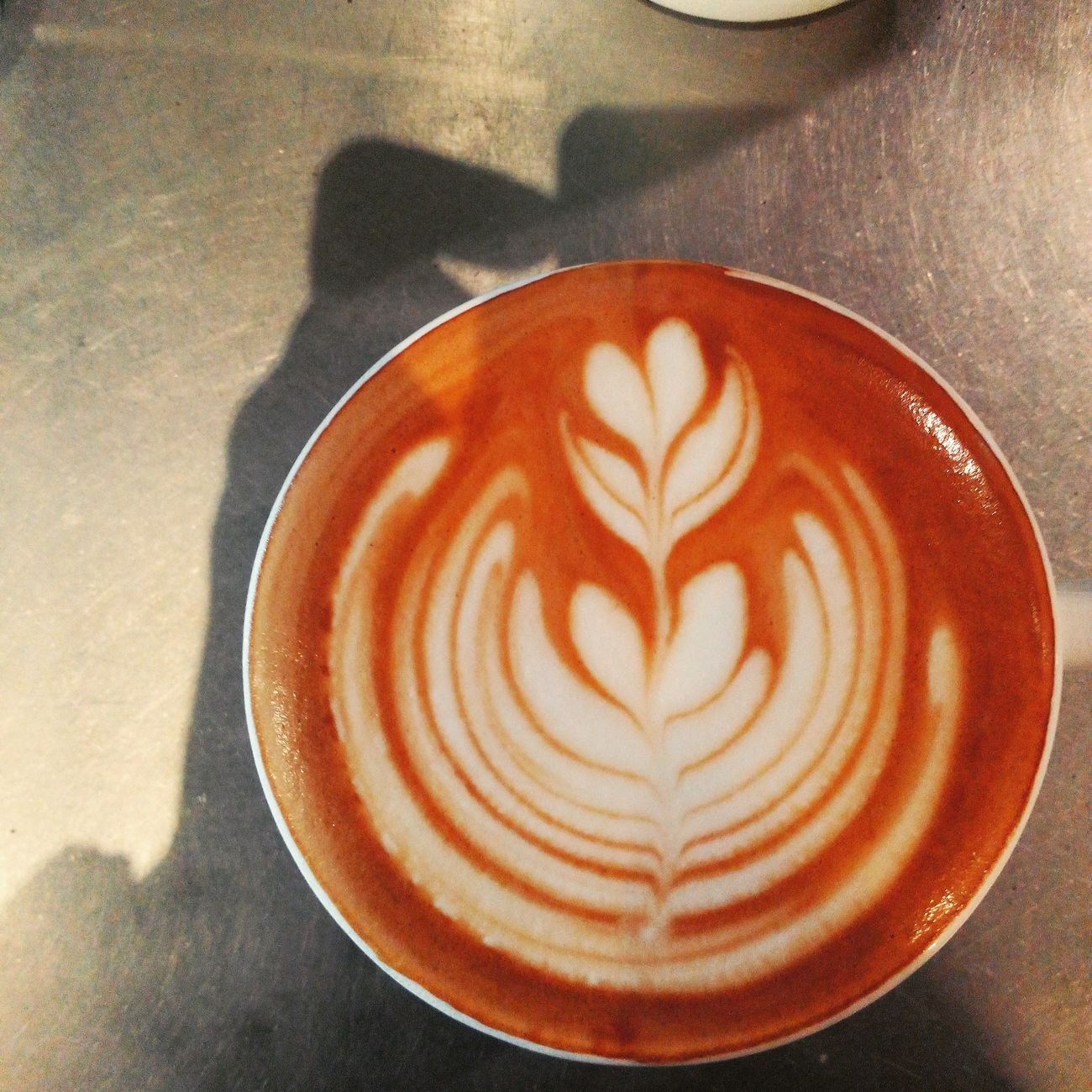first pour. Latte Degree9coffee