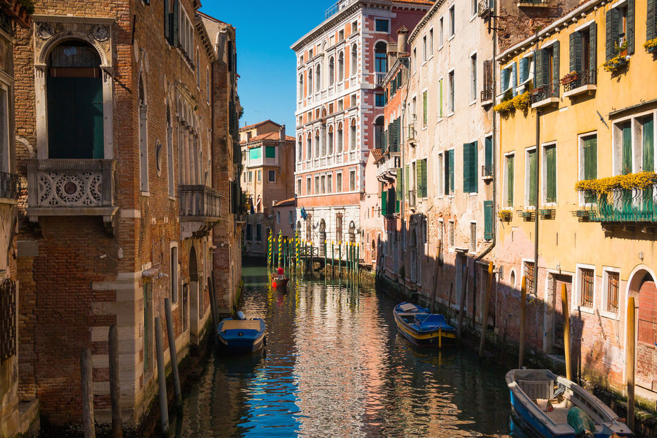 Architecture Building Exterior Built Structure Canal Day Gondola - Traditional Boat Italy Nautical Vessel No People Outdoors Tourism Travel Destinations Venice, Italy Water Waterfront Window