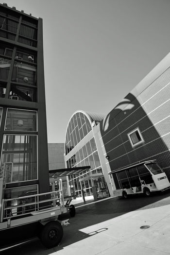 Bnw_friday_eyeemchallenge Train Station 2 Jack London Square Downtown Opened 1995 Port Of Oakland, Ca Owns Train Station Oakland Amtrak Catwalk Stairs Luggage Cart Terminal Building Tracks Owned By Union Pacific Lines: Capital Corridor,Coast Starlight,San Joaquin Black & White Black And White Black And White Collection  Black And White Photography Pattern Pieces Geometric Patterns Glass Reflected Glory Reflection_collection Shadows Shadows On The Wall Shades Of Grey Arched Architecture