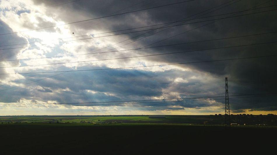 Flying Sunset Beauty In Nature Grass Nature No People Rural Scene Outdoors Sky Technology Day Kyk çerkezköy Turkey