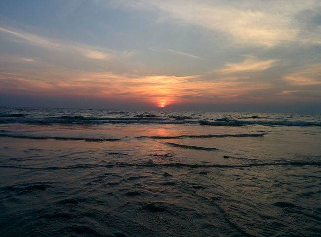 Sunset at Long Beach Koh Lanta Thailand Alone Beach Calm Koh Lanta Krabi Long Beach Ocean Relax Sea Silence Small Waves Sundown Sunset Thailand Water
