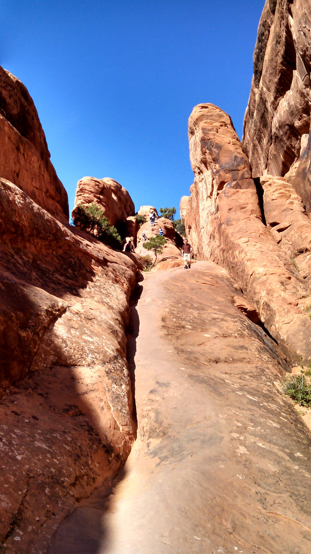 #arches #nationalpark #redrock #Utah Arid Climate Beauty In Nature Blue Clear Sky Cliff Day Eroded Geology Mountain Nature Physical Geography Rock Rock - Object Rock Formation Rocky Mountains Rough Scenics Sunlight Tranquil Scene Tranquility