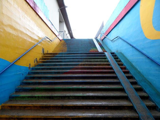 Colored Colorful Stairway Colors No People Staircase Stairs Stairs Stairs_collection