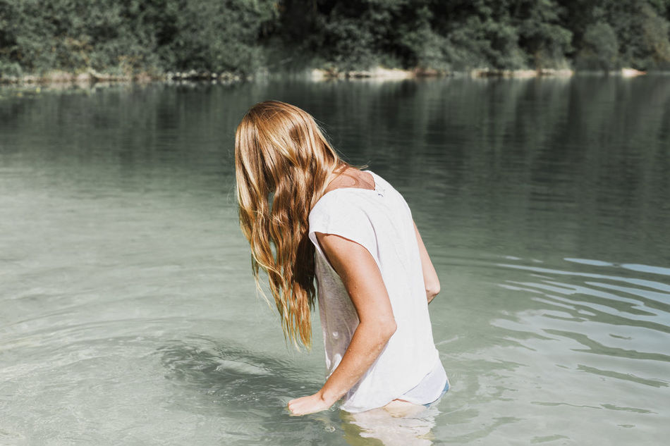 Beautiful stock photos of schwimmen,  Beauty In Nature,  Blonde Hair,  Casual Clothing,  Day