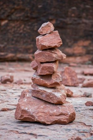 Rock Balancing Stack Balance Rock - Object Table Focus On Foreground No People Day Close-up Outdoors Nature Salt - Mineral Freshness Red Rock Sedona