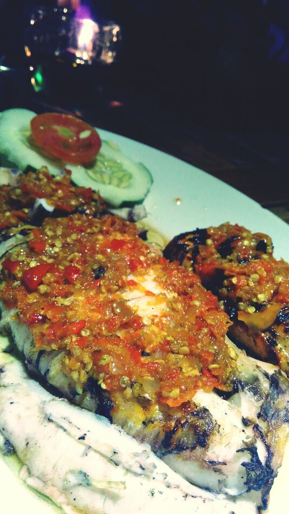 Dinner Indonesianculinary Wonderful Indonesia Northsulawesi Cumi Bakar Rica Food