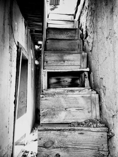 """""""Mystery Ranch No. 6"""" What these stairs have seen. New Mexico Photography New Mexico Mystery Abandoned & Derelict Abandoned Buildings Abandoned Places Wood Stairs Stairs No People Abandoned Damaged Built Structure Architecture House"""