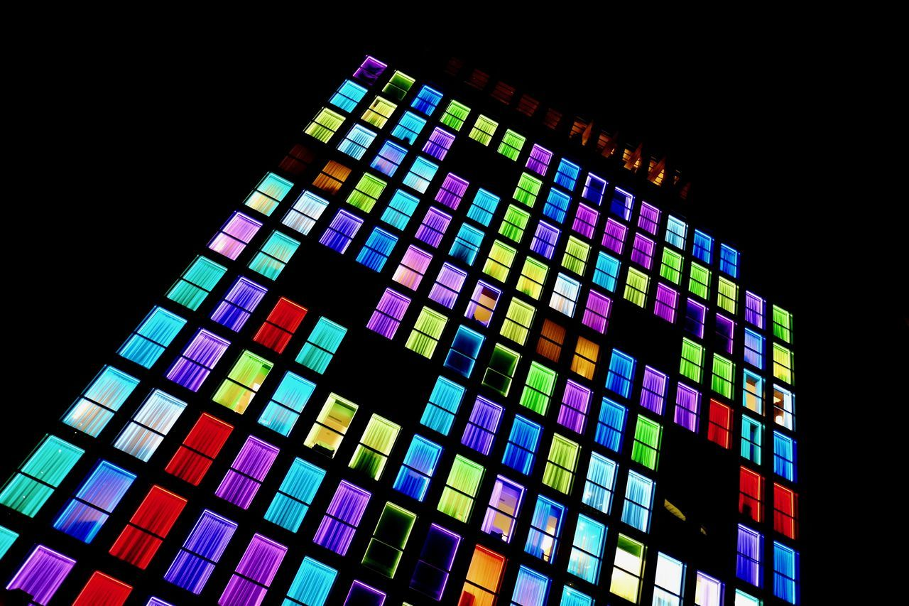 Architecture Black Background Color Explosion Color Palette Color Photography Colorful Colors Colorsplash Colour Of Life Day Holiday Hotel Hotel Room Hotel View Hotels Low Angle View Milan,Italy Milano Multi Colored New Talents Night Night Photography Nightphotography No People Urban