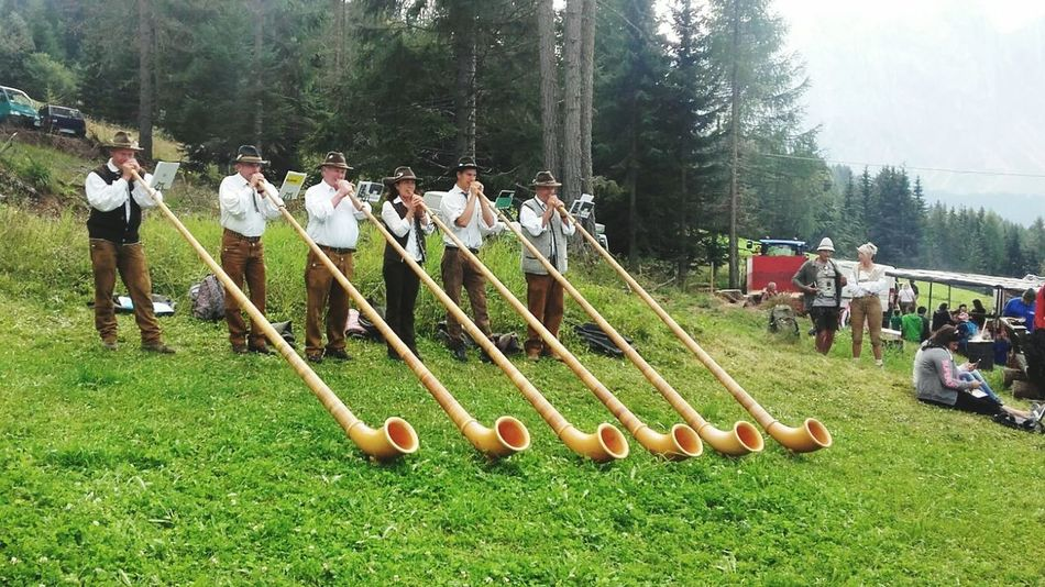 Traditional music dolomites mountains alps Tree Large Group Of People Real People Men Grass Outdoors Tree Large Group Of People Real People Men Grass Full Length Outdoors People Adult Nova Levante