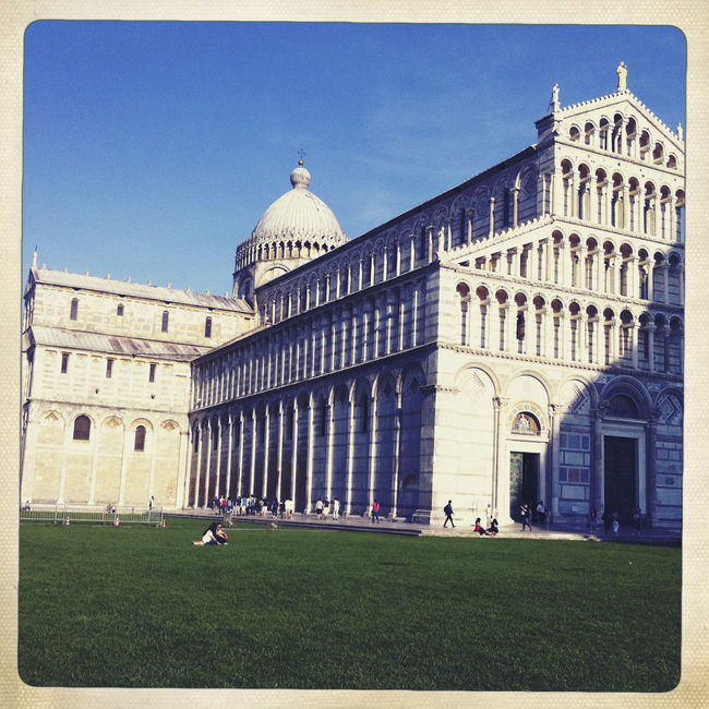 Piazza del Duomo, Pisa PI, Italy Architecture Blue Building Exterior Built Structure Capital Cities  City Day Dome Exterior Façade Famous Place Grass Green Color Italy Lawn No People Outdoors Piazza Del Duomo Pisa Sky Tourism Travel Destinations