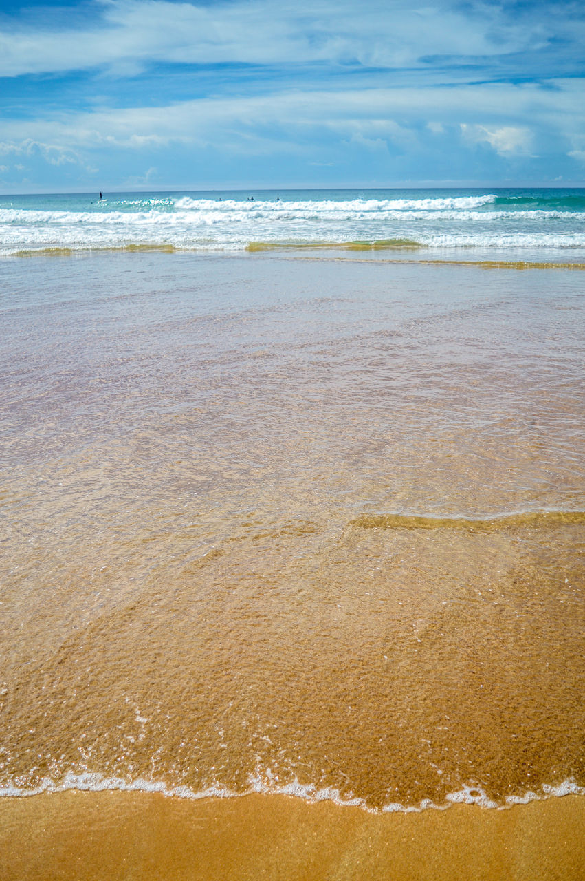 sea, beach, water, horizon over water, sky, nature, shore, tranquility, scenics, no people, beauty in nature, wave, day, tranquil scene, sand, outdoors, cloud - sky