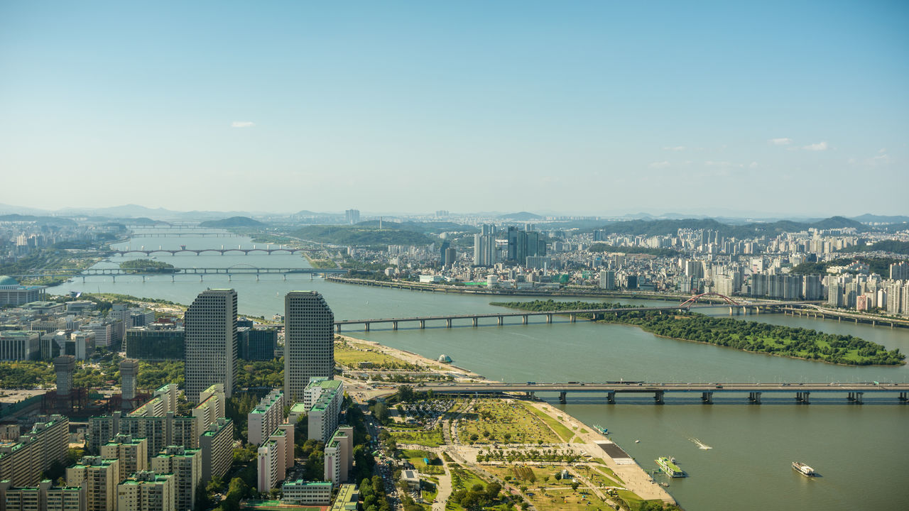 Beautiful stock photos of seoul, Architecture, Beauty In Nature, Bridge - Man Made Structure, Building Exterior