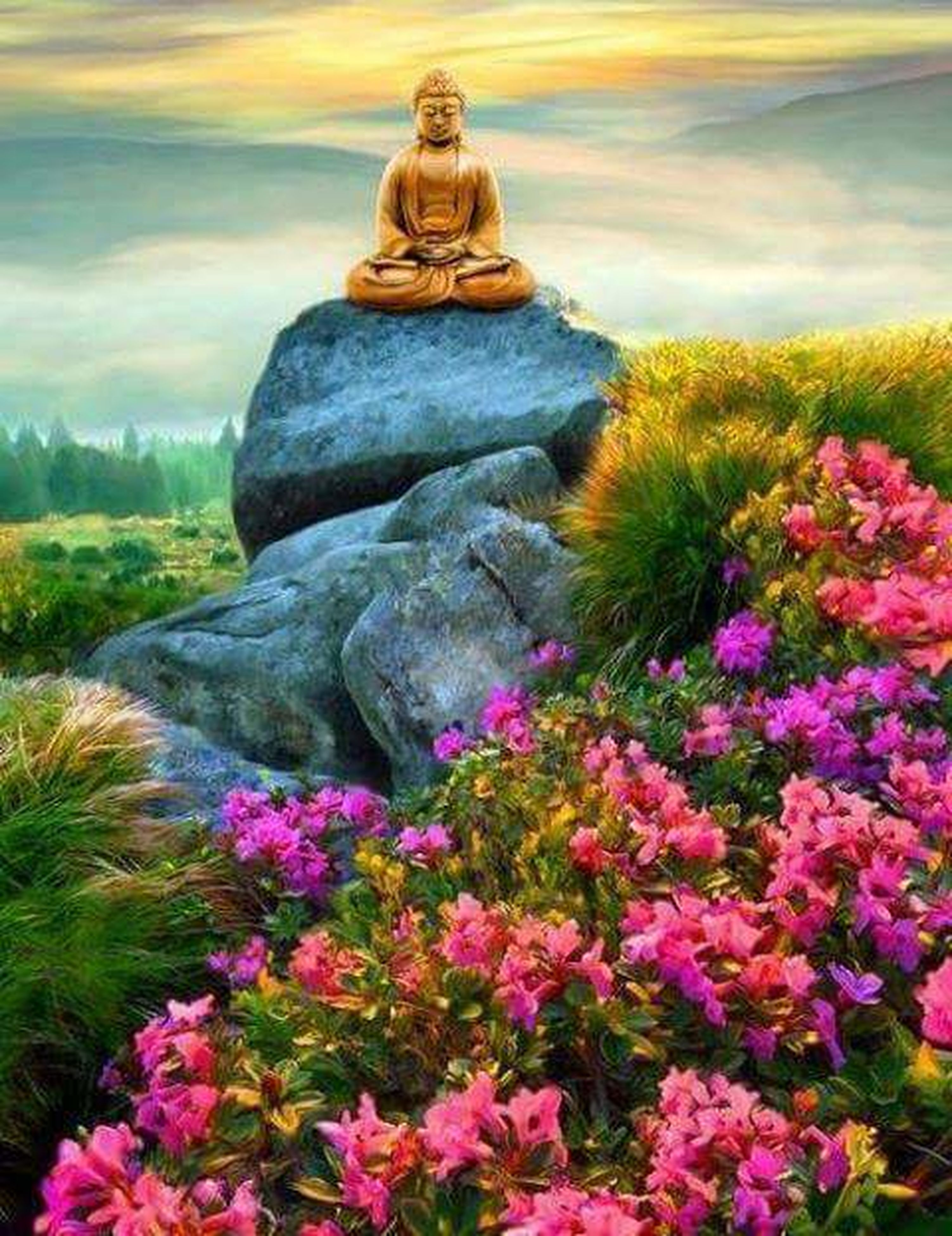 flower, statue, cloud - sky, sculpture, outdoors, travel destinations, nature, beauty in nature, sky, beauty, day, scenics, no people, mountain, tree