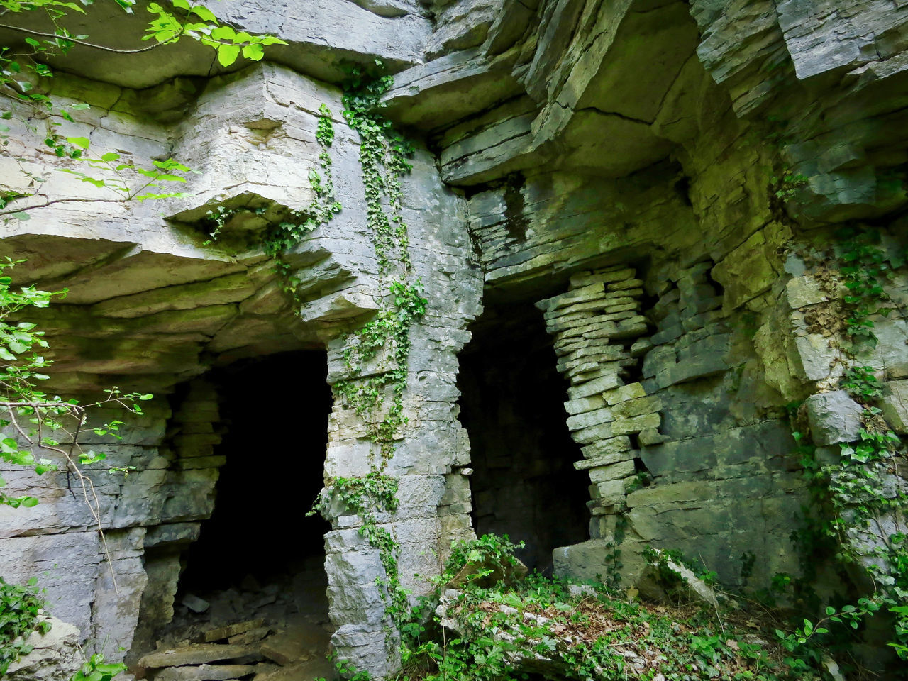 Abandoned Places Cave History Light And Shadow No People Old Quarry Pillars Quarry Stone
