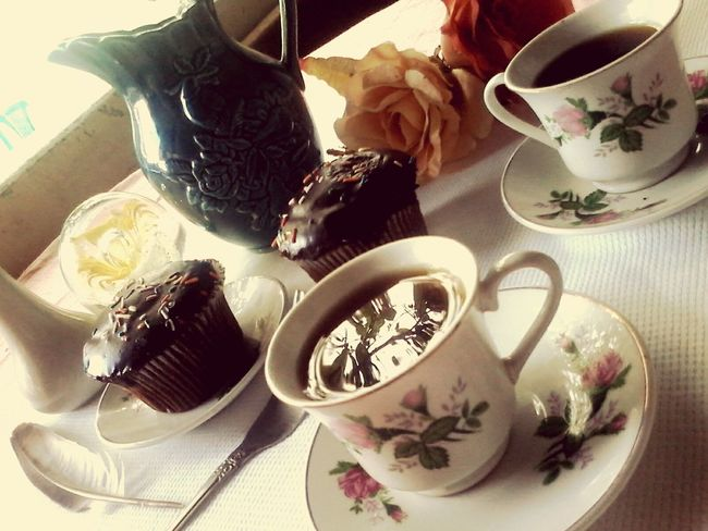 Hora del té. It's Tea Time... Cup Cake♡♡♡ Afternoon Tea Good Time Relaxing Fabian <3