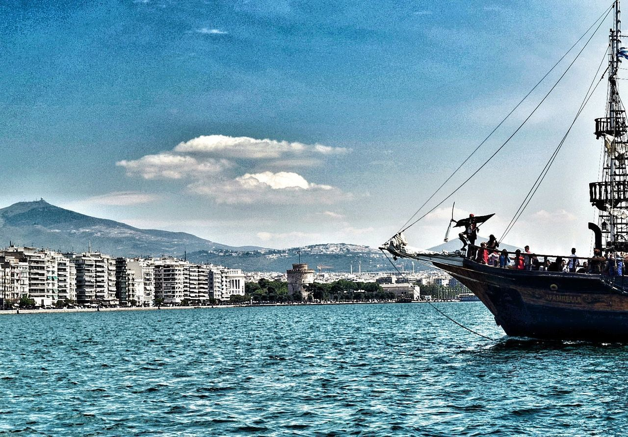 Skg Thessaloniki Pirate Pirate Ship Pirateship  Pirate Shot Sea Sea And Sky Sea View Seascape Sunny Day Sun Sunny Day☀ Whitetower Sky Sky And Clouds Skyporn Mountains And Sky Mountainview