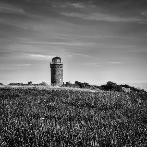 Rügen Baltic Sea Lighthouse Black And White