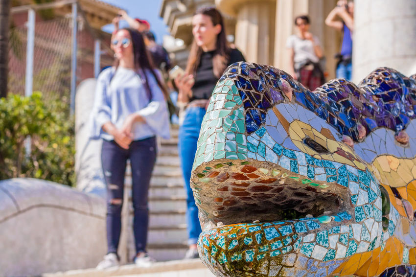 Women Outdoors Day Real People Adults Only Men Adult One Person People Park Güell, Barcelona Street Photography Close Up Blurred Motion Portrait Of A City Barcelona Reflection Tourist Attraction  Art The Architect - 2017 EyeEm Awards