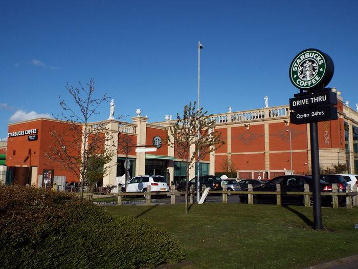 Coffee Coffee Break Starbucks Drive Thru Open 24 Hours Coffee Anytime Blue Sky Blue Sky White Clouds Blue Sky And White Clouds Blue Sky And Clouds Trafford Centre Barton Square