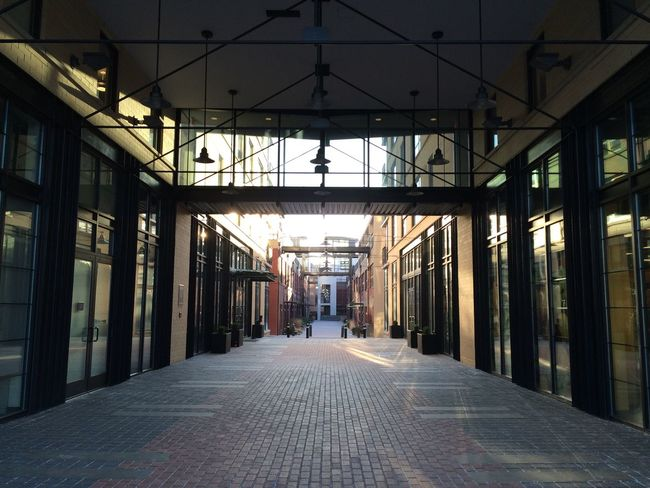 Absence Alley Architecture Building Built Structure Corridor Day Diminishing Perspective Empty Illuminated Long Narrow No People The Way Forward Vanishing Point Walkway