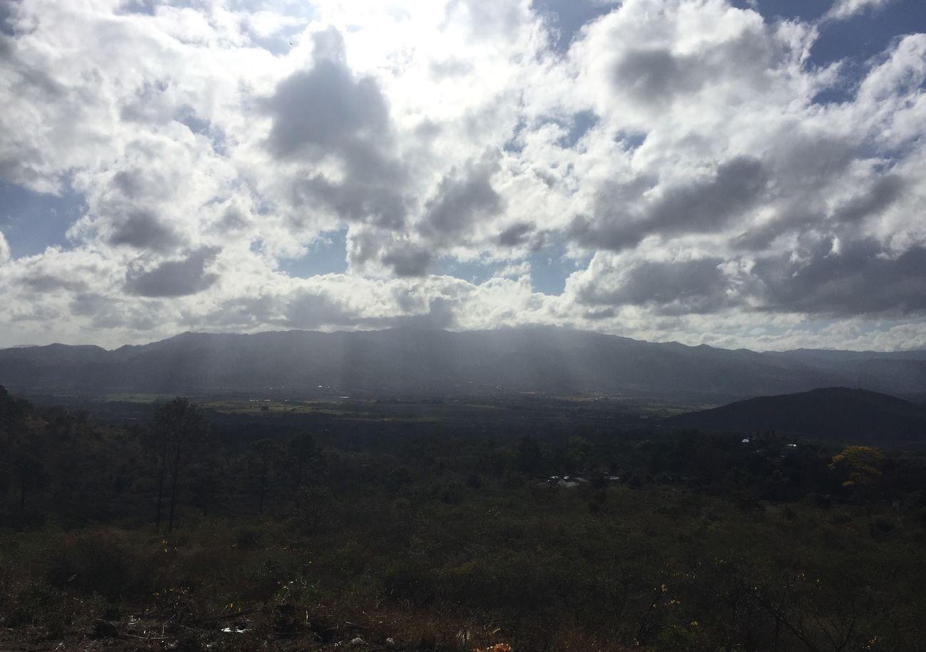 Clouds Honduras Mountain Mountains Sun Village
