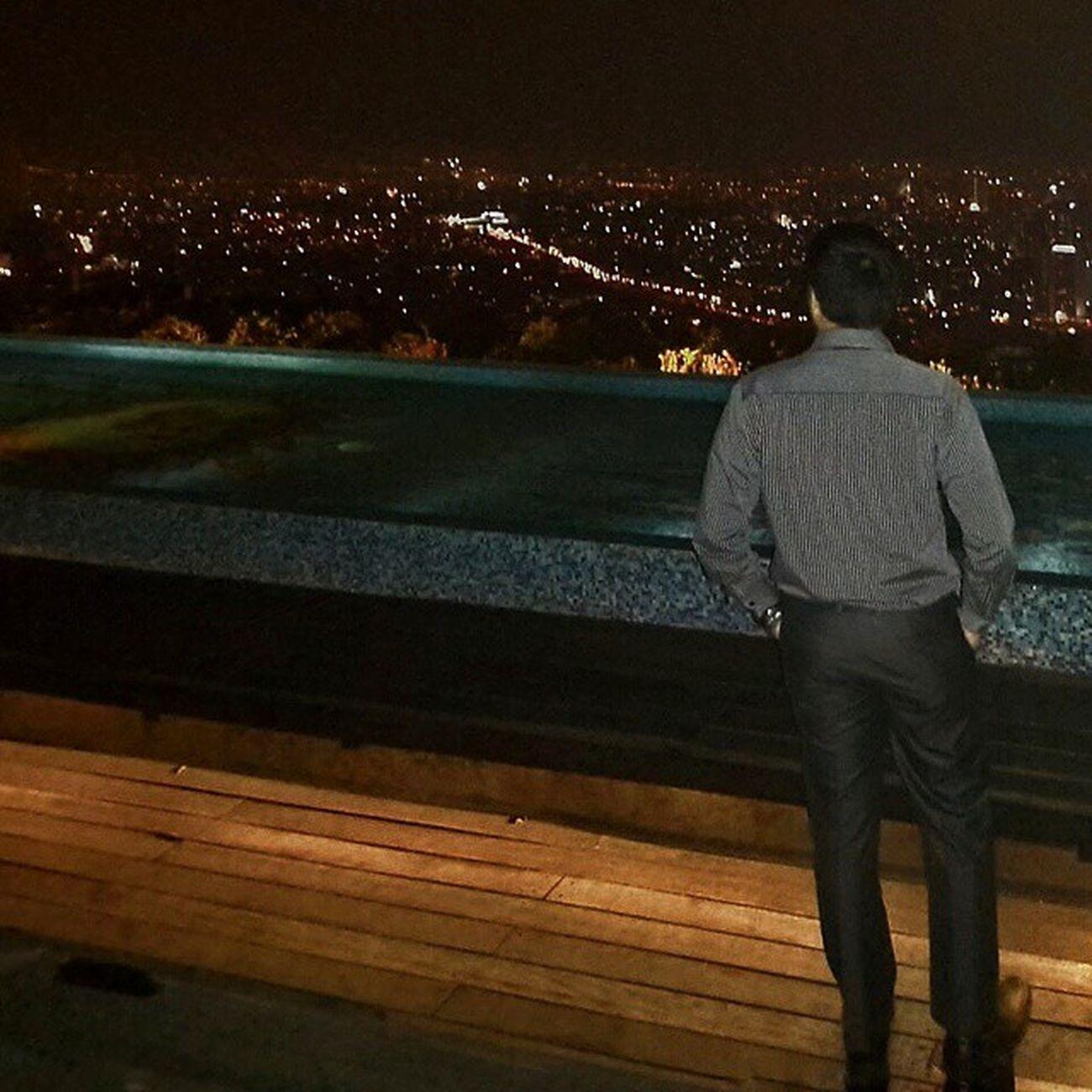 Where's Ana 😔 Jakarta @nightSkye Rooftop Skyejakarta 56thfloor Pictoftheday Dagelan VSCO Mr Grey City Building Skyporn Love Friday Sky Lounge Bar Star Instasky Pool Indonesiafamous Tgif