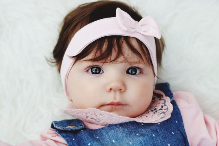 Childhood Innocence One Person Real People Looking At Camera Cute Indoors  Portrait Headshot Babyhood