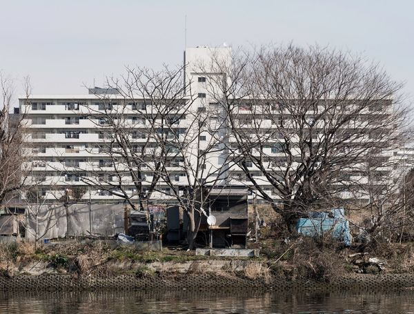 Kawasaki Bare Tree Tree Abandoned Architecture No People Building Exterior Day Built Structure Outdoors Branch Sky Nature EyeEmNewHere Colour Your Horizn