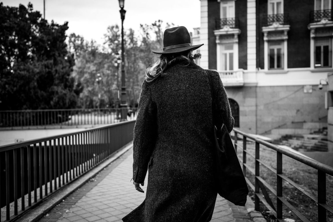 Adult Black And White Blackandwhite Blackandwhite Photography City Day One Person Outdoors People Railing Real People Rear View Tree Women Urbanphotography Urbanlifestyle Urban Outfitters Urbanfashion Urban Winter