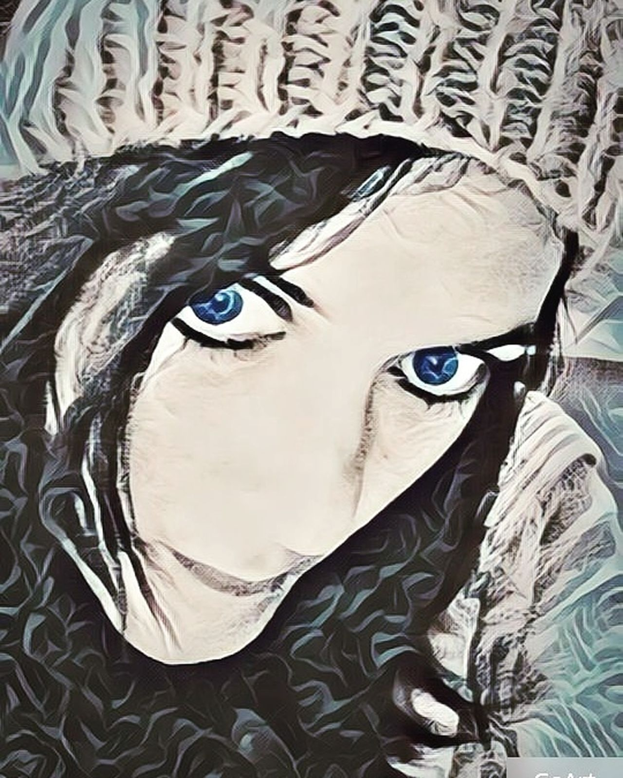Human Eye Human Face Close-up Windows To My Soul 👀 Deep Thoughts One Person Portrait Hat BlueEyes Selfıe