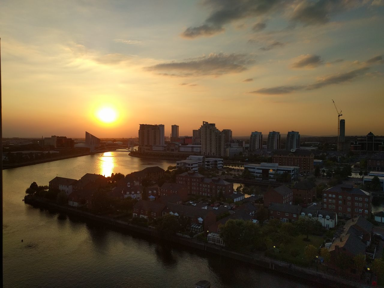 Sunset Sunset Urban Skyline City Outdoors Sky Warm Beautiful Mediacityuk