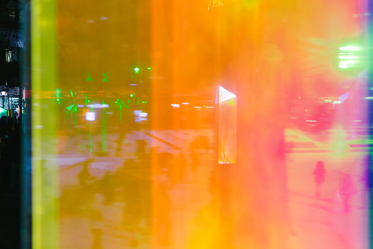 Colourful life at night Abstract City Colourful Illuminated Light Effect Multi Colored Night Orange Outdoors Pink Reflection Street Vibrant