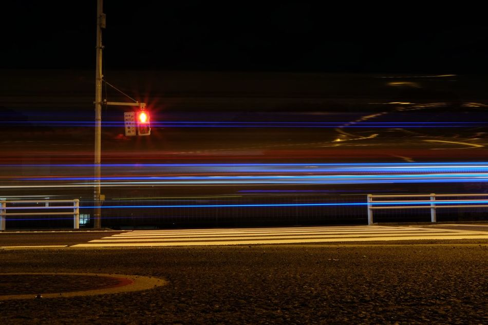 Light LINE Lines Night No People On The Way Home Road Street Photography Streetphoto_color Streetphotography Traffic Traffic Signal Traffic Light  Transportation Welcome To Black