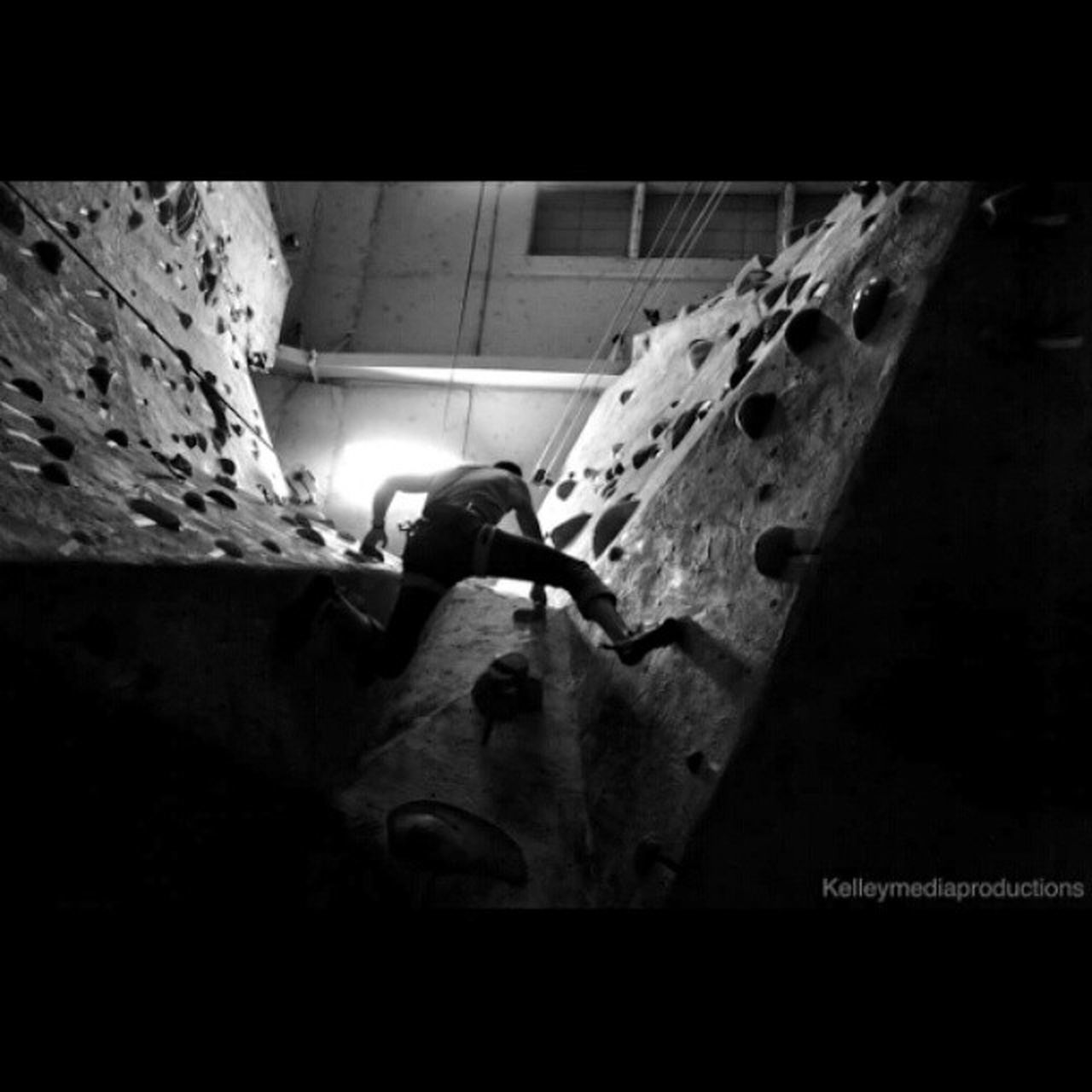 Climbing to the top Kelleymediaproductions Climbing RockClimbing Indoorrockclimbing Toproping Gravityvault Indoor Rockclimbersofinstagram Blackandwhite Blackandwhitephotography Photography Photographersofinstagram Stayrad