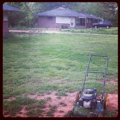 Up early getting my yard together.