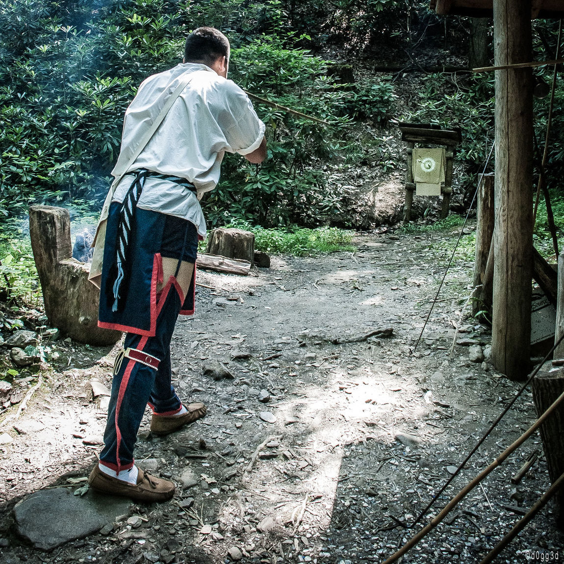 Blowpipe Cherokee Forest Hunting Native American Nature North Carolina Oconaluftee Outdoors Smoke Target Traditional Traditional Clothing Traditional Culture