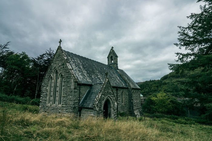 Chapel Church Loneliness Wales Abandoned Architecture Built Structure Day Grass History No People Outdoors Sky Tree Wilderness