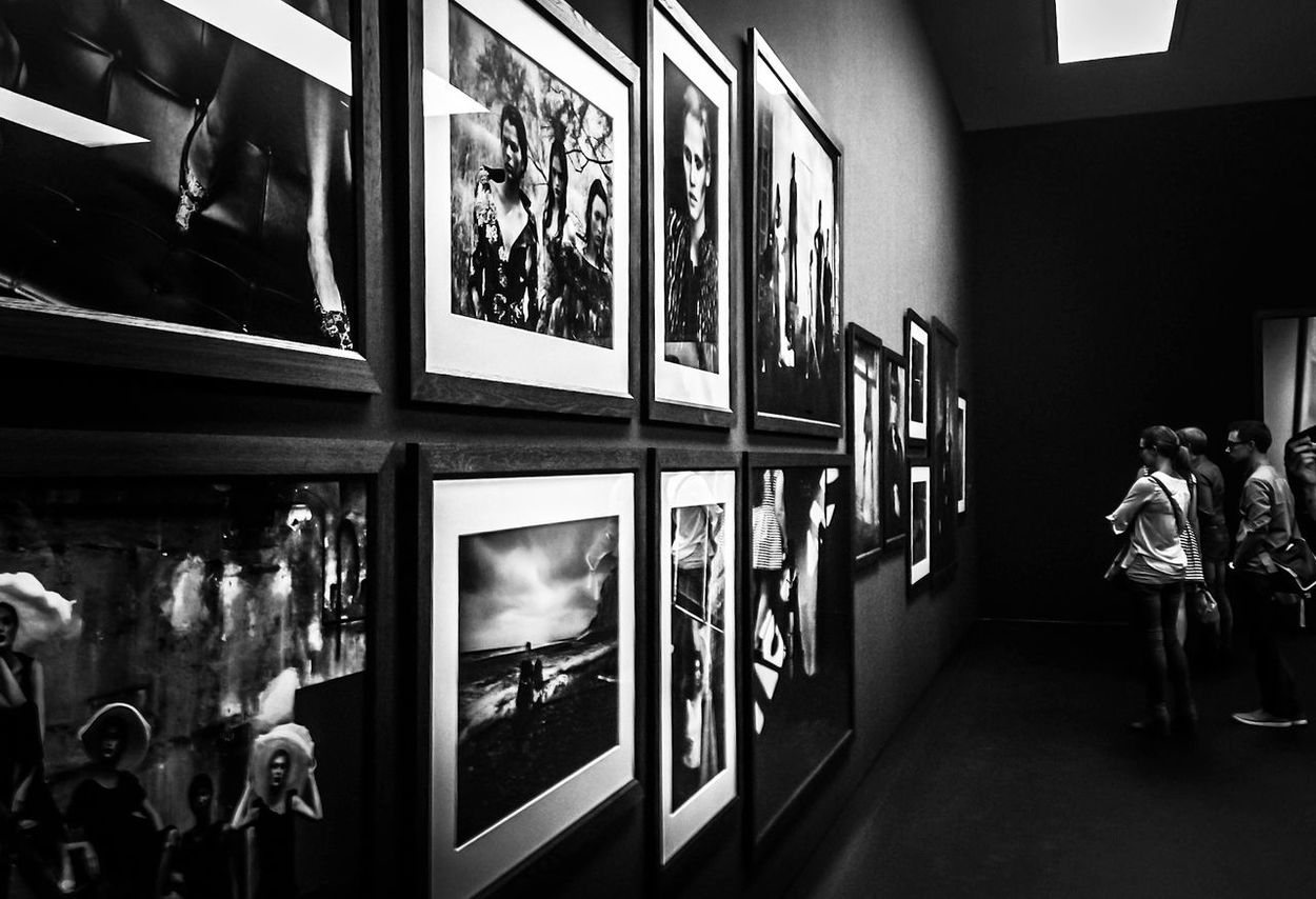 Artgallery Black And White Indoors  Kunsthalle München Museum People Peter Lindbergh Real People Rear View