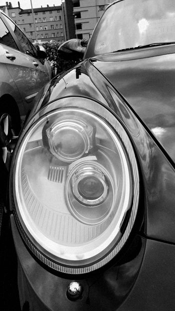 Porsche Car Headlight Light And Shadow Reflection Black And White Front View EyeEm Gallery Porsche 911 On The Parking From My Point Of View Eyeem Car Photo Showcase July Berlin Pivotal Ideas Monochrome Photography The Drive Embrace Urban Life Chance Encounters The Street Photographer - 2017 EyeEm Awards