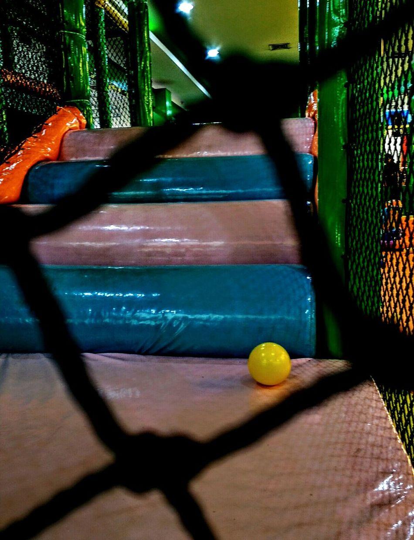 Playground Indoors  No People Ball Playground Yellowball Alone EyeEmNewHere Exibition Hall No Kids Colourfull Best EyeEm Shot EyeEmOnMarket EyeEm Gallery