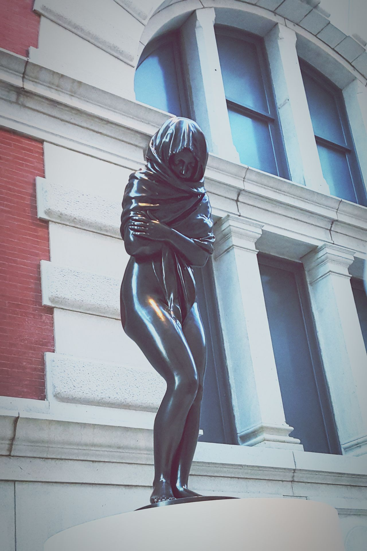 Posing Cold Feeling Sick Lady Sculpture Naked Woman Woman Sculptures Cold Woman Italian Art