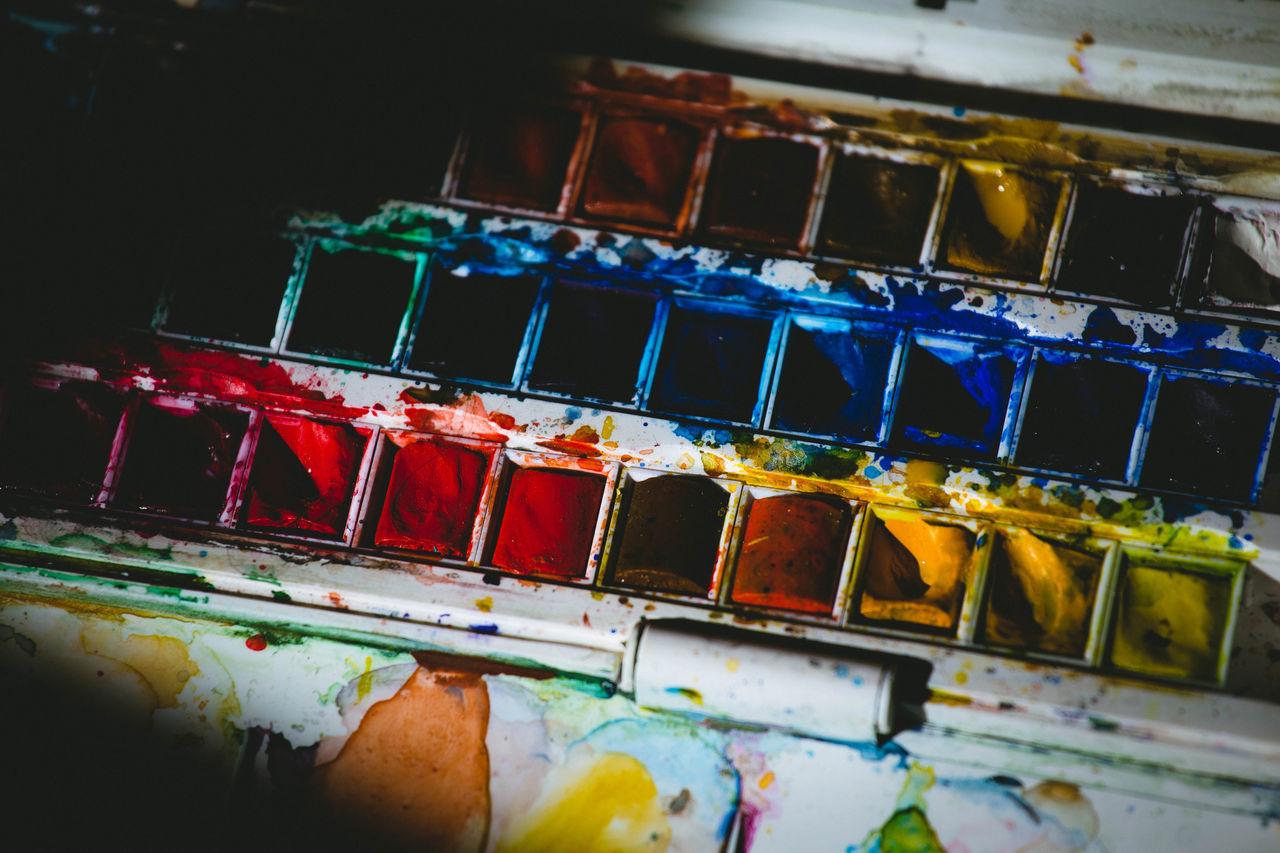 Acuarela Art Art Is Everywhere Arte Blue Colors Eye4photography  EyeEm Gallery Photooftheday Pintura Pinturas Red Yellow