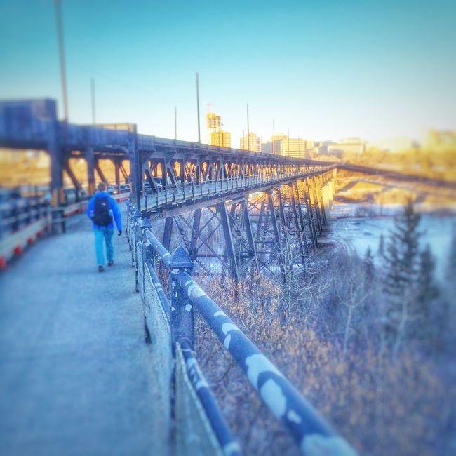 Walking Around Bridge Cityscape Urban Geometry Landscape