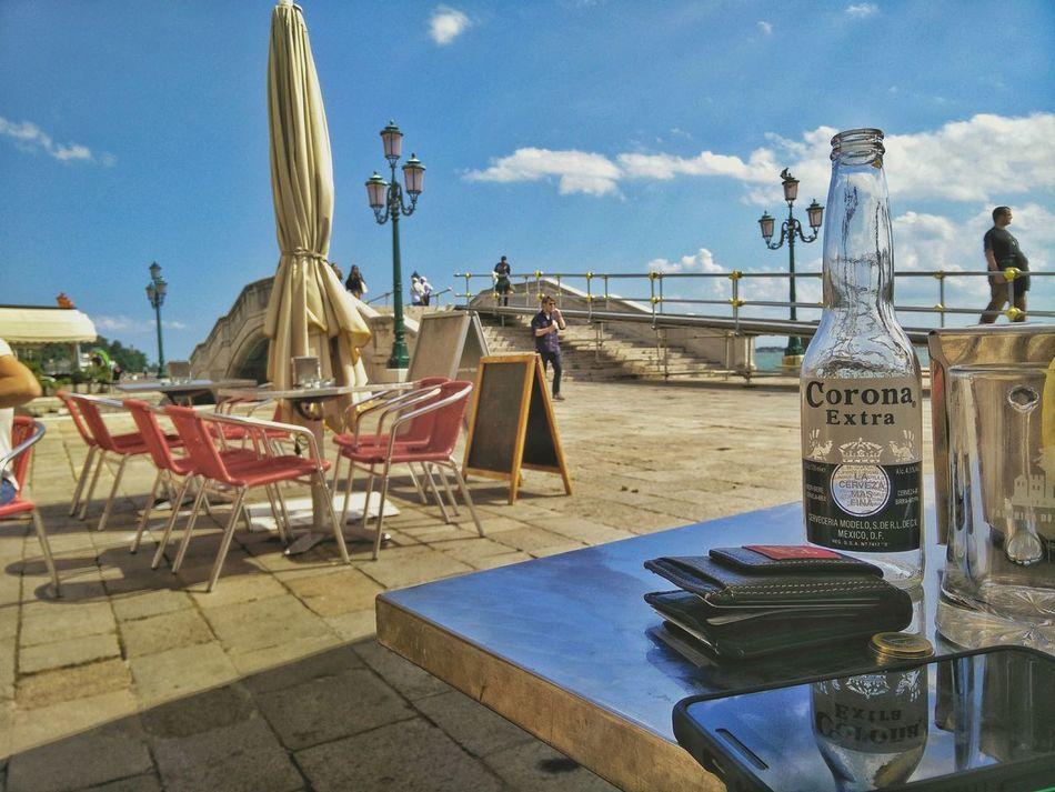 Corona Corona Beer Cloud - Sky Silhouette Coronaextra Corona Extra Sunlight Outdoors Sky No People Day Blue Warmth Warm Holiday EyeEmNewHere Sunset_collection Venice Venice Beach Venice View Venice, Italy Venice Italy Venice Area Venicelife