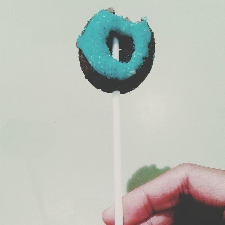 A donut becoming a lollipop..haha ? Donut Donut Pop Food