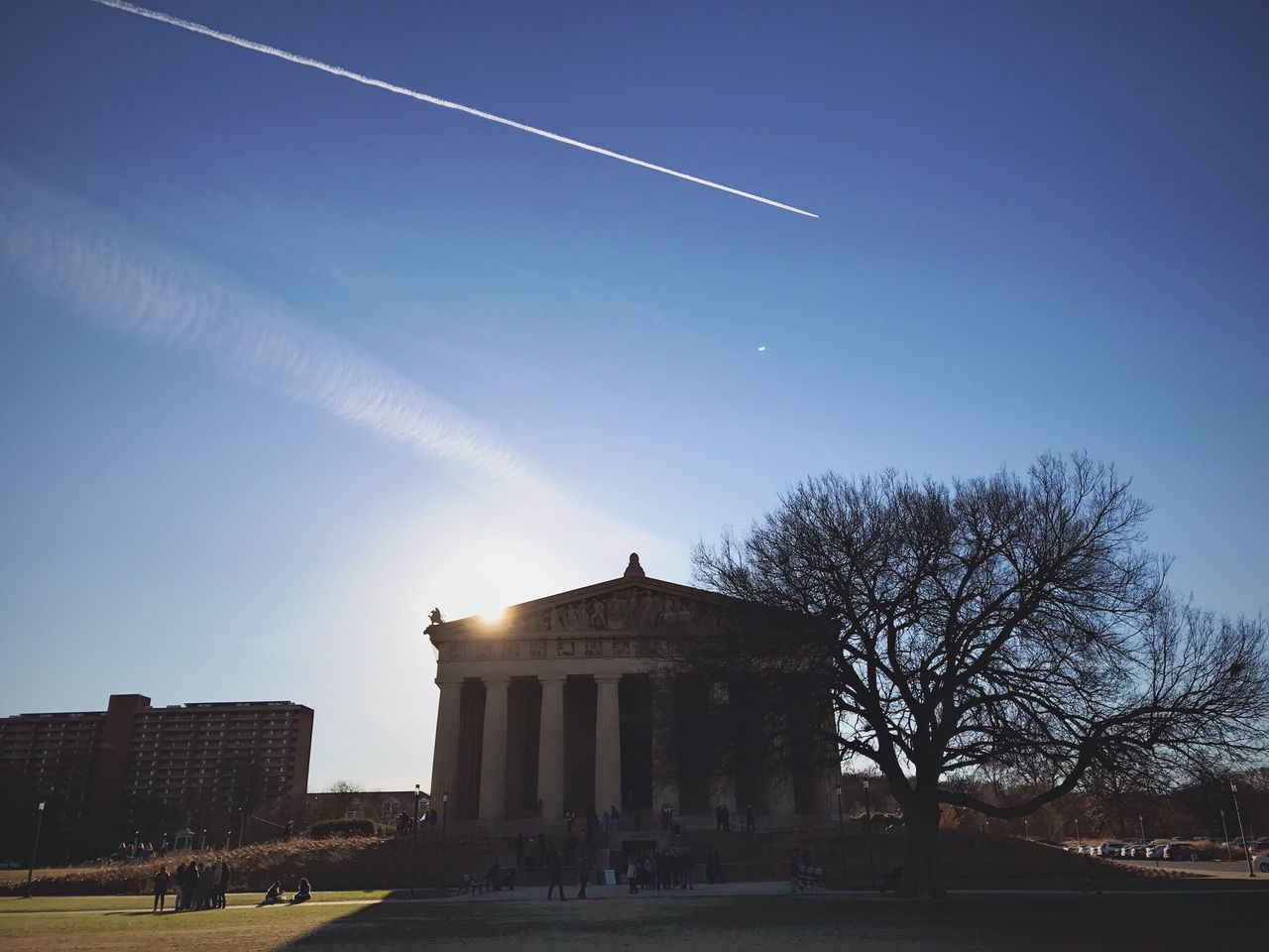 Built Structure Architecture Sky Building Exterior Low Angle View Tree Outdoors Day NASHVILLE,TENNESSEE Nashville Nashville TN Architecture Illuminated Parthenon