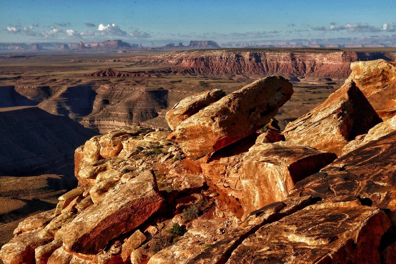 Muley Point Nature Geology Tranquility Rock - Object Beauty In Nature Physical Geography Scenics Outdoors Tranquil Scene Day No People Sky